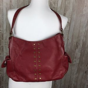 The Sak Red Genuine Leather Purse